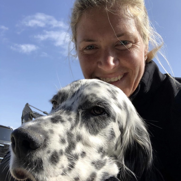 Suzann Pettersen and her dog