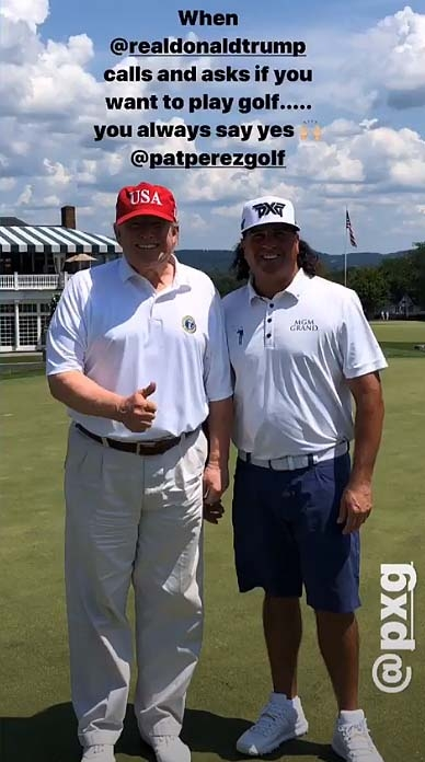 Donald Trump and Pat Perez